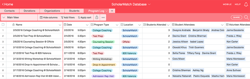 Students, meet your match: how ScholarMatch made Airtable