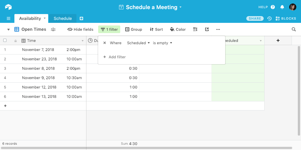 How to make a simple booking system